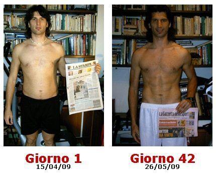 perdere peso girovita uomo