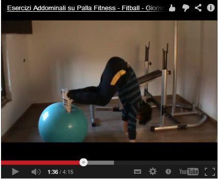 Esercizi per Addominali su Palla Fitness