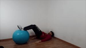 Alzate del bacino con fitball